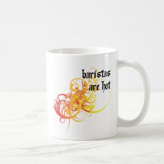 Baristas es caliente tazas de café