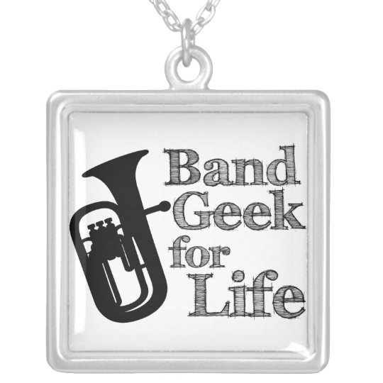 Baritone Band Geek Silver Plated Necklace