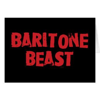 Baritone Beast Greeting Card