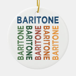 Baritone Cute Colorful Double-Sided Ceramic Round Christmas Ornament