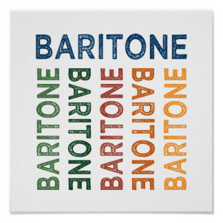 Baritone Cute Colorful Print