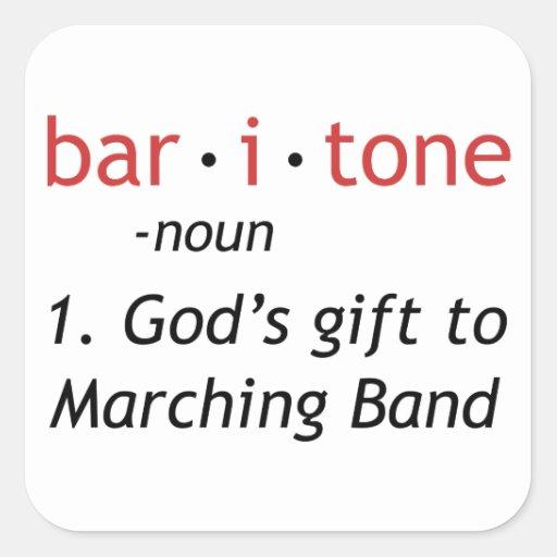 Baritone Definition Square Sticker Zazzle