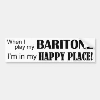 Baritone Happy Place Bumper Sticker