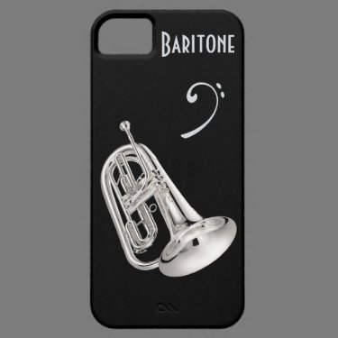 Baritone Horn in Silver iPhone 5 Cases