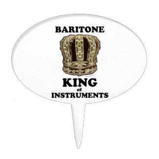 Baritone King of Instruments Cake Topper
