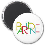 Baritone Letters 2 Inch Round Magnet