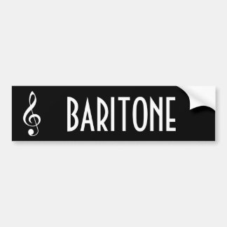 Baritone Music Band Bumper Sticker Gift