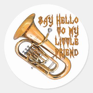 Baritone: My Little Friend Classic Round Sticker