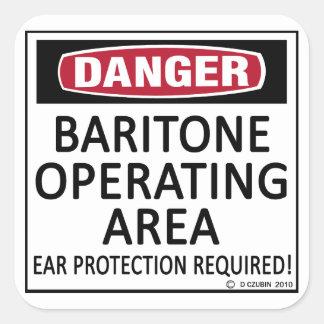 Baritone Operating Area Square Sticker