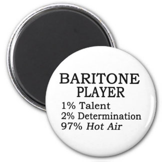 Baritone Player Hot Air 2 Inch Round Magnet