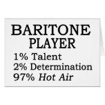 Baritone Player Hot Air Card