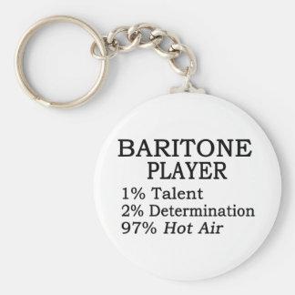 Baritone Player Hot Air Basic Round Button Keychain