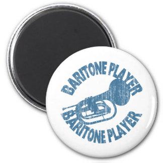 Baritone Player 2 Inch Round Magnet