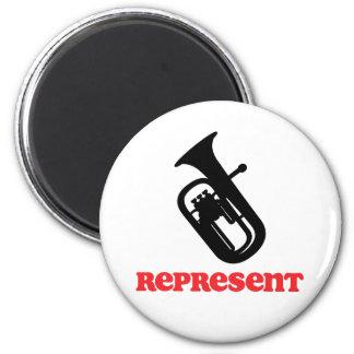 Baritone Represent 2 Inch Round Magnet