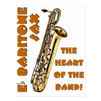 Baritone Sax Postcard