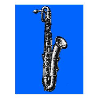Baritone Saxophone Postcard