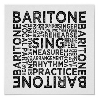 Baritone Typography Posters