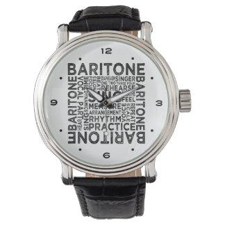 Baritone Typography Wrist Watches