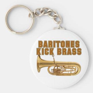 Baritones Kick Brass Basic Round Button Keychain