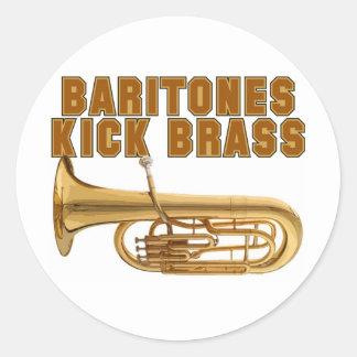 Baritones Kick Brass Classic Round Sticker