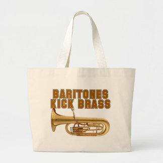 Baritones Kick Brass Large Tote Bag
