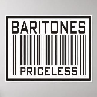 Baritones Priceless Poster