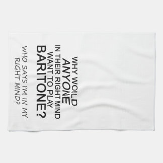 Barítono adecuado de la mente toallas de cocina