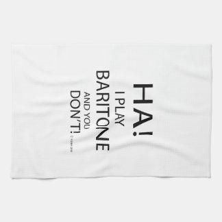 Barítono de la ha toalla de mano