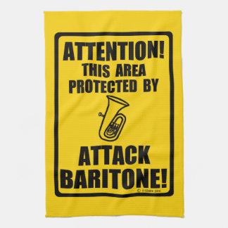 Barítono del ataque toalla de mano