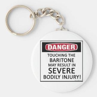 Barítono del peligro llavero personalizado