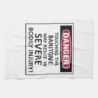 Barítono del peligro toalla de cocina