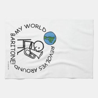 Barítono - el mundo gira alrededor toallas de cocina