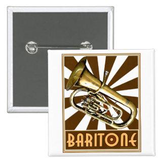 Barítono retro pin cuadrado