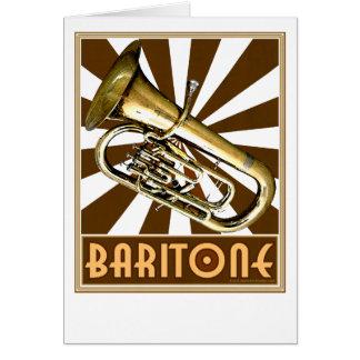 Barítono retro tarjeta de felicitación