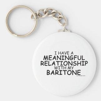 Barítono significativo de la relación llavero personalizado