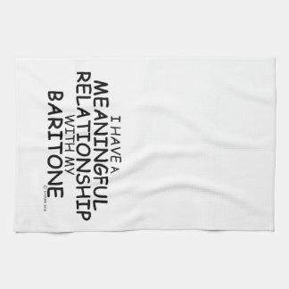 Barítono significativo de la relación toalla de cocina