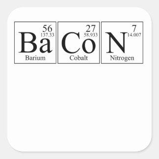 Barium Cobalt Nitrogen Bacon Square Sticker