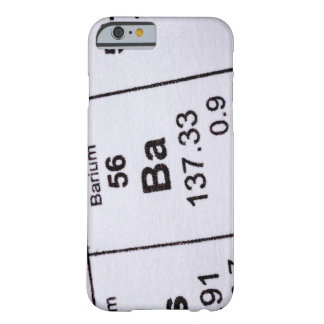 Barium molecular formula barely there iPhone 6 case