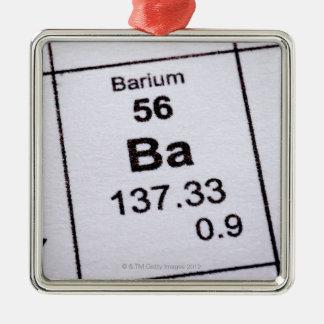 Barium molecular formula metal ornament