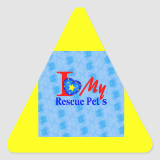 """Bark4Rescue Adoption Drive"" Triangle Sticker"