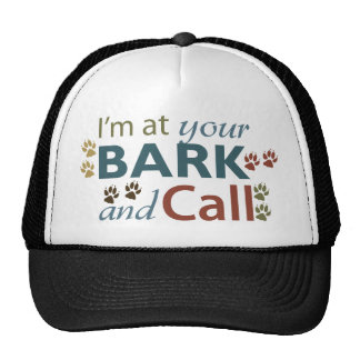 bark-and-call trucker hat