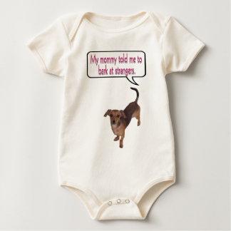 bark at strangers.png baby bodysuit