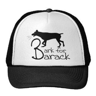 bark for barack trucker hat