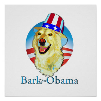 Bark for Obama poster