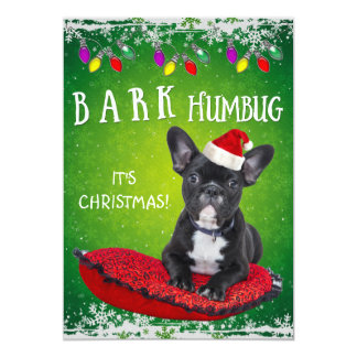BARK Humbug Colorful Christmas Party Invitation