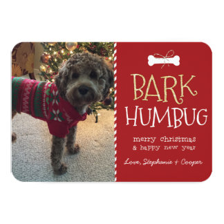 Bark Humbug Dog Christmas Card