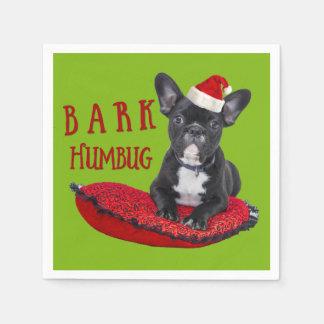 BARK Humbug French Bulldog Christmas Paper Napkins