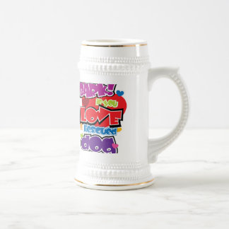 Bark If You Love A Rescued Dog 18 Oz Beer Stein