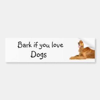 Bark if you love dogs bumper sticker