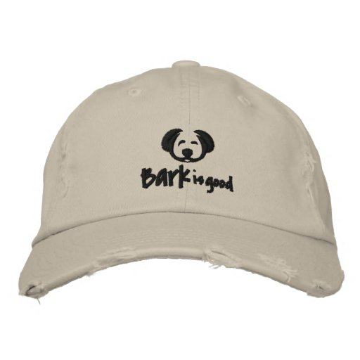 Bark is good distressed hat